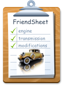 FriendSheet engine transmission modifications